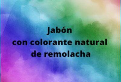 Jabón con colorante natural de remolacha