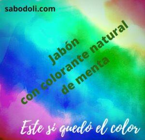 Jabón con colorante natural de menta