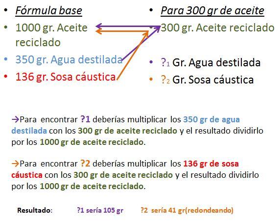 Como calcular el agua y sosa necesarios