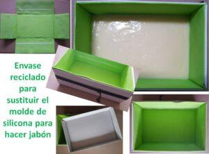 Sustituto de molde de silicona reciclando