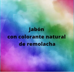 Jabón con colorante natural de remolacha